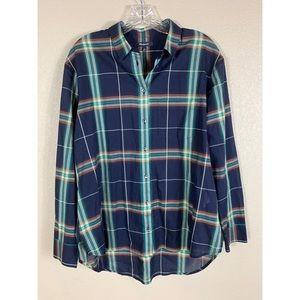 {Madewell} Plaid Button Down Shirt